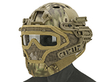 Matrix Legionnaire Full Head Coverage Helmet / Mask / Goggle Protective System (Color: Kryptek Highlander)