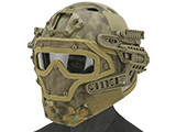 Matrix Legionnaire Full Head Coverage Helmet / Mask / Goggle Protective System (Color: Kryptek Mandrake)
