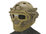 Matrix Legionnaire Full Head Coverage Helmet / Mask / Goggle Protective System (Color: Tan)