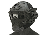 Matrix Legionnaire Full Head Coverage Helmet / Mask / Goggle Protective System (Color: Kryptek Typhon)