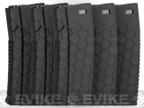 Hexmag Airsoft 120rds Polymer Mid-Cap Magazine for M4 / M16 Series Airsoft AEG Rifles (Color: Black / Pack of 5)