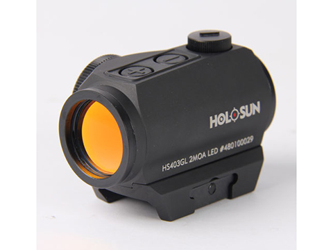 HOLOSUN HS403GL Compact Red Dot Sight w/ Low & High Mount