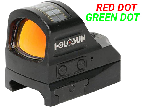 HOLOSUN HS407C V2 Solar + Battery Powered Micro Dot Reflex Sight w/ Dot Reticle