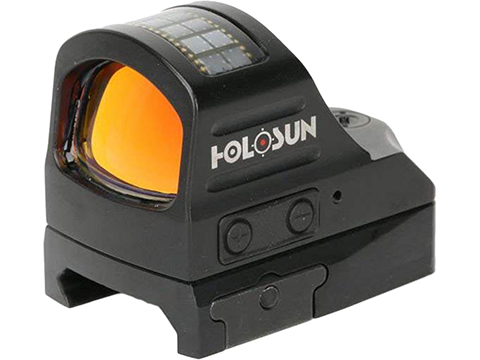 HOLOSUN HS407C Solar + Battery Powered Micro Dot Reflex Sight w/ Dot Reticle (Type: Red Dot)