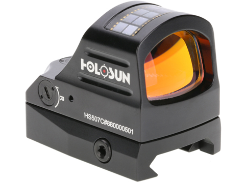 HOLOSUN HS507C Solar + Battery Powered Micro Dot Reflex Sight w/ Circle Dot Reticle