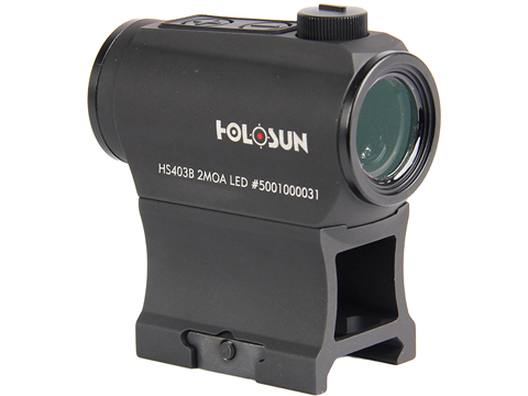 HOLOSUN HE403B Shake Awake Compact Red Dot Sight w/ Low & AR Mount