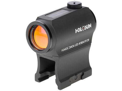 HOLOSUN HE403C Solar Power Compact Red Dot Sight w/ Low & AR Mount