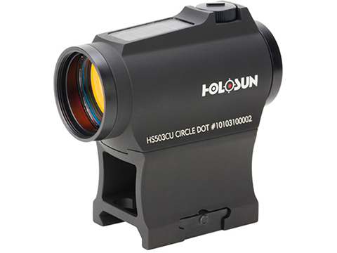 HOLOSUN HE503GU Solar Power Compact Red Dot Circle Sight w/ Low & AR Mount