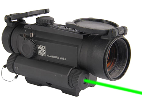 HOLOSUN HS401G5 Shake Awake 30mm Tube Red Dot Circle Sight w/ Cantilever Mount   Dot/Shake Awake/Green Laser