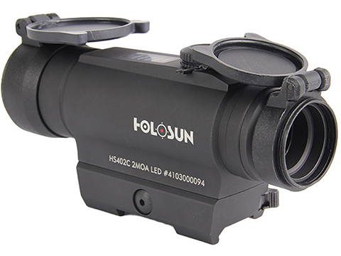 HOLOSUN HS402C Solar Power 30mm Tube Red Dot Sight w/ Low Mount & AR Mount