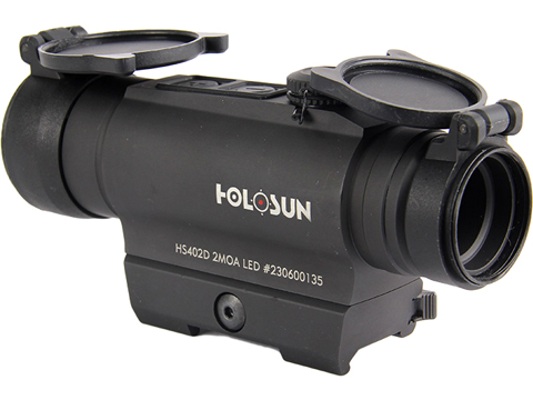 HOLOSUN HS402D Shake Awake 30mm Tube Red Dot Sight w/ Low Mount & AR Mount