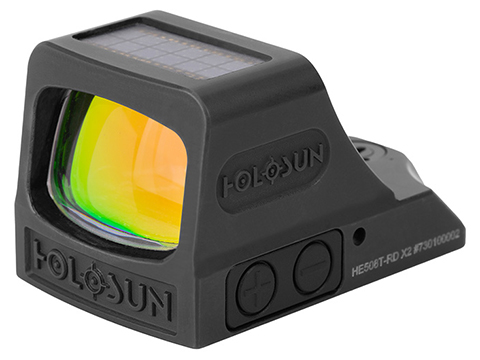 HOLOSUN HE508T RD X2 Solar + Battery Powered Titanium Micro Dot Reflex Sight