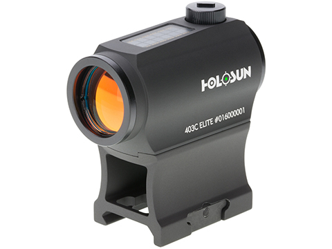 HOLOSUN HE403C Solar Power Compact Green Dot Sight w/ Low & AR Mount