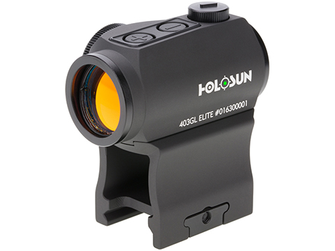 HOLOSUN HE403GL Shake Awake Compact Green Dot Sight w/ Low & AR Mount