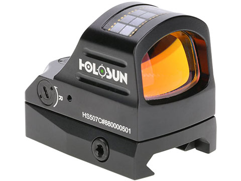 HOLOSUN HE507C Solar + Battery Powered Micro Dot Reflex Sight w/ Circle Dot Reticle