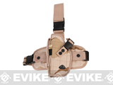 Special Force Quick Draw Tactical Thigh Holster w/ Drop Leg Panel (Desert Camo / Left)