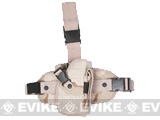 Special Force Quick Draw Tactical Thigh Holster w/ Drop Leg Panel (Desert Camo / Right)