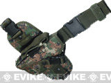Special Force Quick Draw Tactical Thigh Holster w/ Drop Leg Panel (Woodland Marpat / AOR2 / Left Leg)
