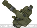 Special Force Quick Draw Tactical Thigh Holster w/ Drop Leg Panel (OD Green / Right)