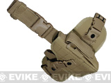 Special Force Quick Draw Tactical Thigh Holster w/ Drop Leg Panel (Coyote Tan / Right)