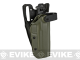 z Blade-Tech WRS Level II Duty Holster w/ Duty Dropped Offset Belt Mount - 1911 5 w/ Rail (Right Hand - OD Green)