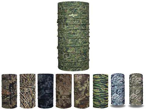 Hoo-rag Full-Hoo Multiuse Face Protection Camo Series (Color: Digi-Knit Camo)