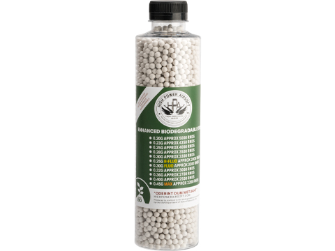 High Power Airsoft (HPA) US Lab Tested Precision Biodegradable 6mm Airsoft BBs (Weight: .23g / 4350rds)