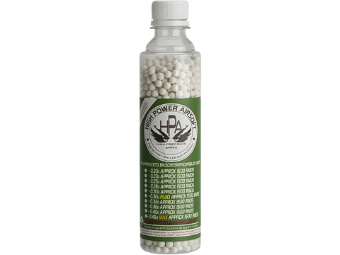 High Power Airsoft (HPA) US Lab Tested Precision Biodegradable 6mm Airsoft BBs (Weight: .36g / 1500rds)