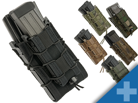 HSGI Double Decker TACO® Modular Single Rifle and Pistol Magazine Pouch (Color: MOLLE / Black)