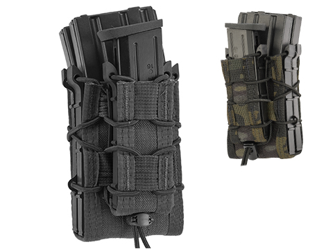 HSGI X2R/P TACO® Modular Double Rifle Magazine Pouch with Single Pistol Magazine Pouch (Color: Black)