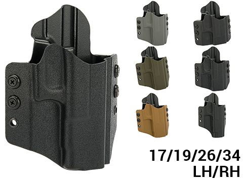 High Speed Gear Inc OWB Kydex Holster for Glock Pistols (Model: Glock 17 22 31 / Right Hand / Black)