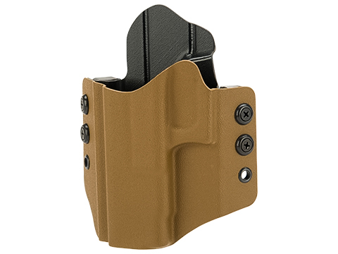 High Speed Gear Inc OWB Kydex Holster (Model: Glock 17 22 31 / Left Hand / Coyote Brown)