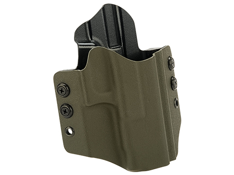 High Speed Gear Inc OWB Kydex Holster for Glock Pistols (Model: Glock 17/22/31Competition / Right Hand / Olive Drab)