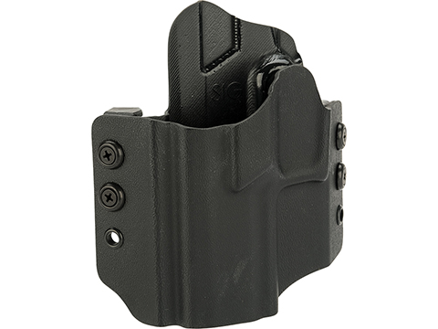 High Speed Gear Inc OWB Kydex Holster for SIG Pistols (Model: SIG P320 Compact / Left Hand / Black)