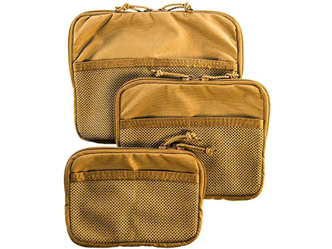 HSGI Velcro Mounted Mesh Utility Pouch  (Color: Coyote Brown / Medium)