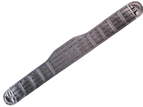 HSGI Laser Sure-Grip Slotted Padded Belt (Color: Wolf Gray / Small)