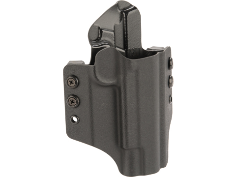 High Speed Gear Inc OWB Kydex Holster For 1911 Pistols (Model: 1911 Operator with Rails / Right Hand / Black)
