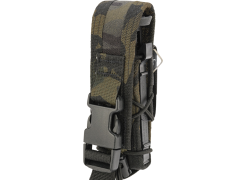 High Speed Gear HSGI Single  Modular Pistol Magazine Belt Attached Pouch (Color: Multicam Black)