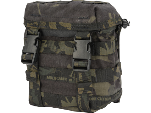 HSGI 2QT Canteen Pouch w/ MOLLE Attachment (Color: Multicam Black)