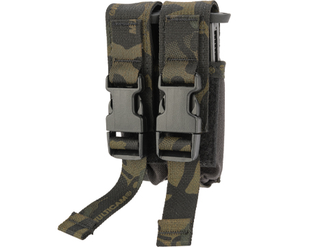High Speed Gear HSGI Double Modular Pistol Magazine MOLLE Pouch (Color: Multicam Black)
