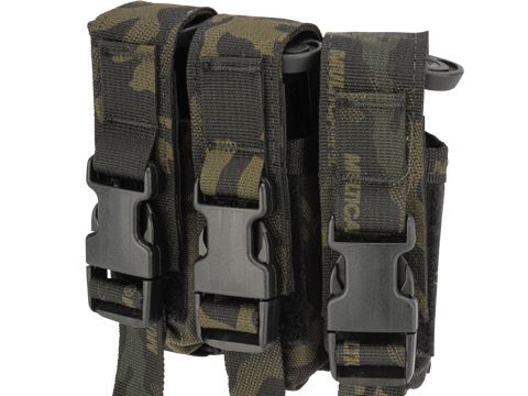 High Speed Gear HSGI Triple Modular Pistol Magazine MOLLE Pouch (Color: Multicam Black)