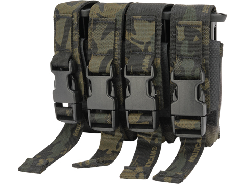 High Speed Gear HSGI Quad Modular Pistol Magazine MOLLE Pouch (Color: Multicam Black)