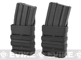 High Speed MOLLE Compatible Airsoft M4 Mag Carrier - Black / Set of 2
