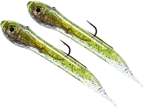 Hook Up Baits Handcrafted Soft Fishing Jigs (Color: Sardine Green Silver / 4 / 3/8 oz)