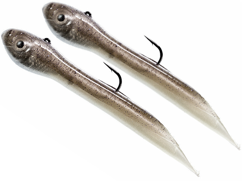 Hook Up Baits Handcrafted Soft Fishing Jigs (Color: Shad White / 4 / 3/8 oz)