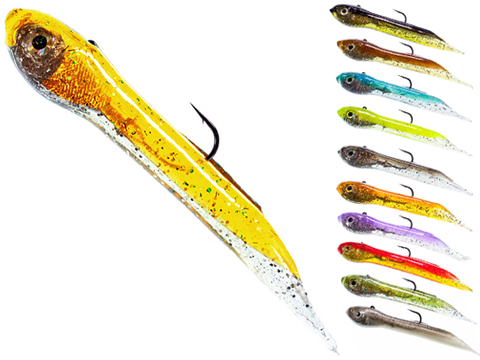 Hook Up Baits Handcrafted Soft Fishing Jigs (Color: Black Gold / 2 / 1/32 oz)