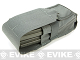 Blue Force Gear Ten-Speed Single Stack Double M4 Mag Pouch - Wolf Grey