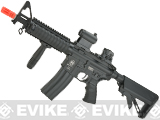 ICS Full Metal Airsoft M4 RIS Electric Blowback Airsoft M4 AEG Rifle - Black