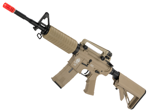 ICS M4 CS4A1 ICS-370 Sportline Airsoft AEG w/ Split QD Gearbox (Color: Tan)