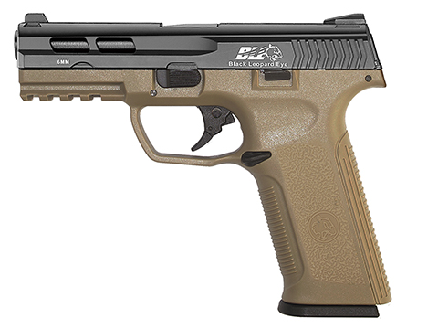 ICS BLE-XAE Ambidextrous Duty Size GBB Airsoft Pistol (Color: Two Tone Black Slide / Tan Frame)